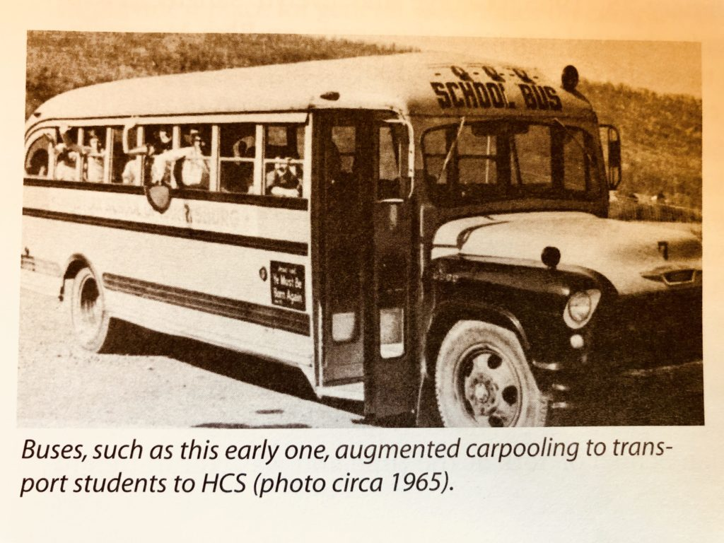 Harrisburg Christian School school bus 1965
