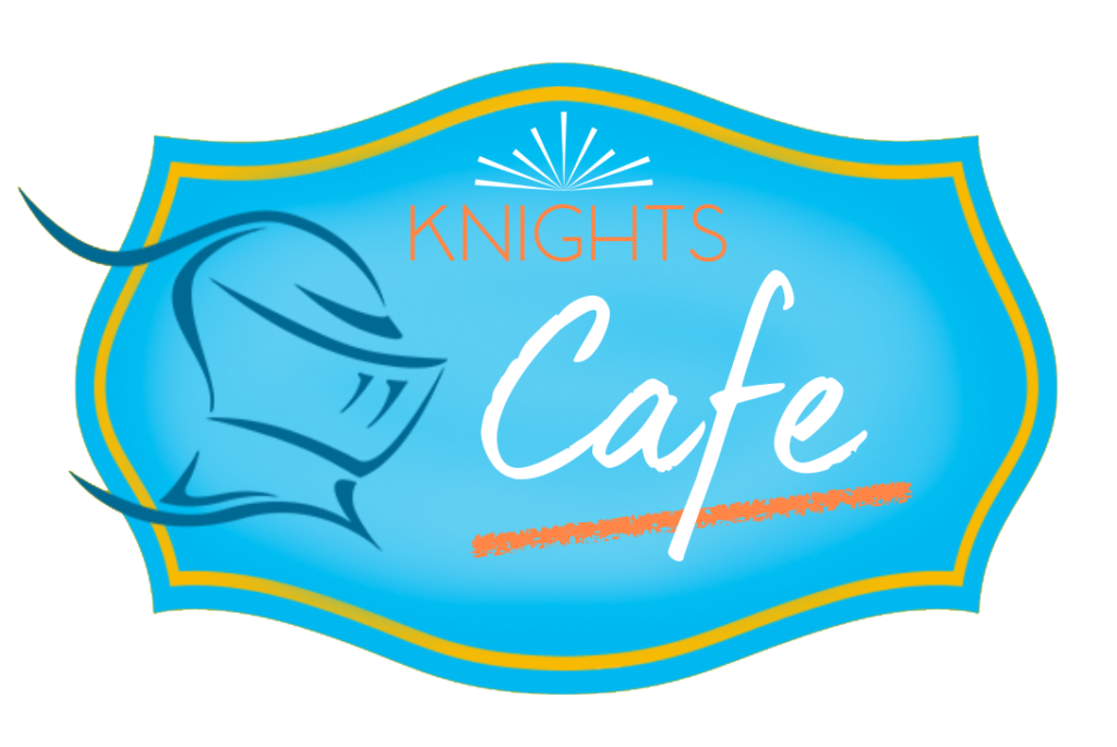 Knights Cafe blue logo