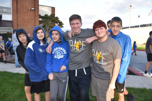 Group of boys smiling at R.A.C.E event at Harrisburg Christian School