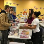 Harrisburg Christian School students preparing packages