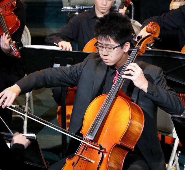 exchange student playing instrument