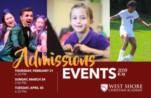 WSCA Admissions Flyer