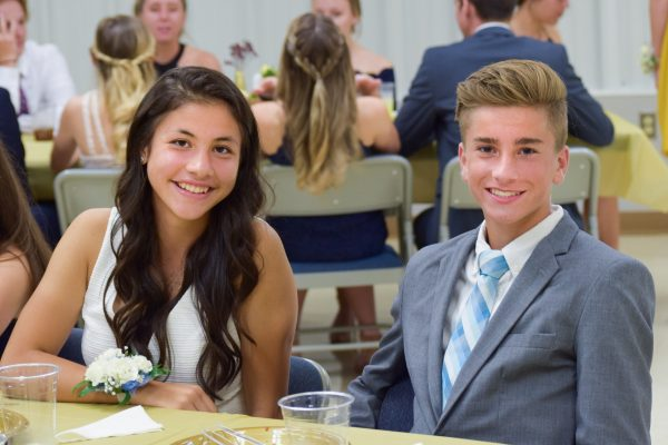 Students at formal event