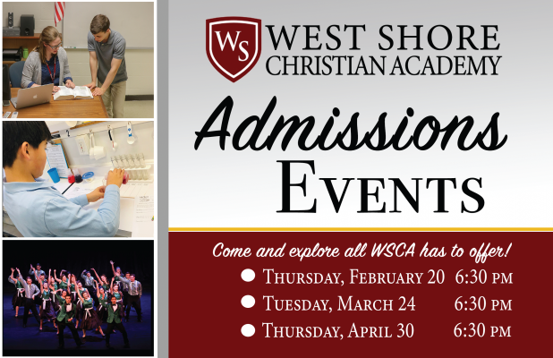 WSCA Admissions Events